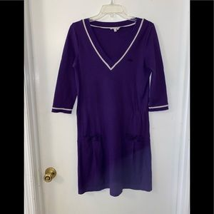 🎁 Lacoste Purple Pique Stretch Dress